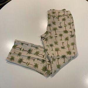Havenbleu Pants Embellished Palm Trees Tropical 4